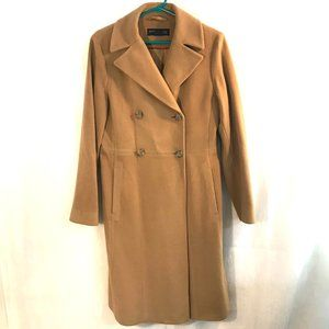 Kenneth Cole Wool Cashmere Blend Pea Coat Trench 8